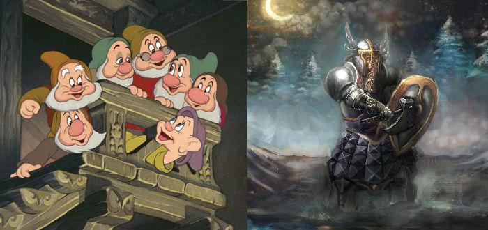 enanos de disney y enanos de Tolkien, Tolkien por Disney