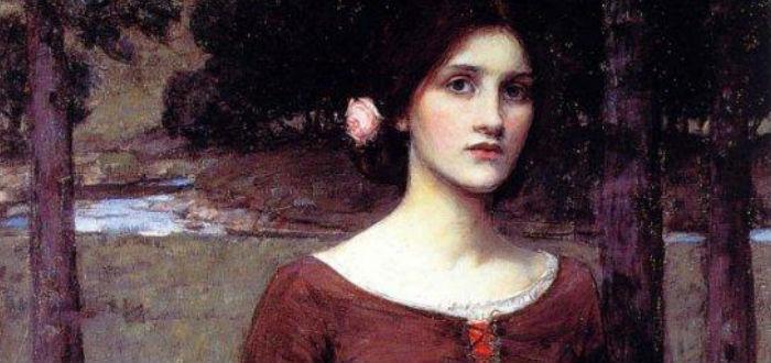 menstruación en el pasado, mujer medieval flores