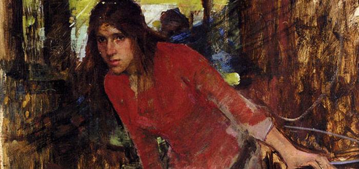 mujer vestida de rojo, menstruacion en el pasado