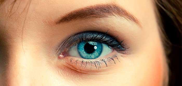 ojos azules, mujer, joven