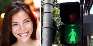 Los semáforos en Australia representaron a las mujeres durante un mes
