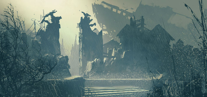 ciudad abandonada, humanidad desapareciese
