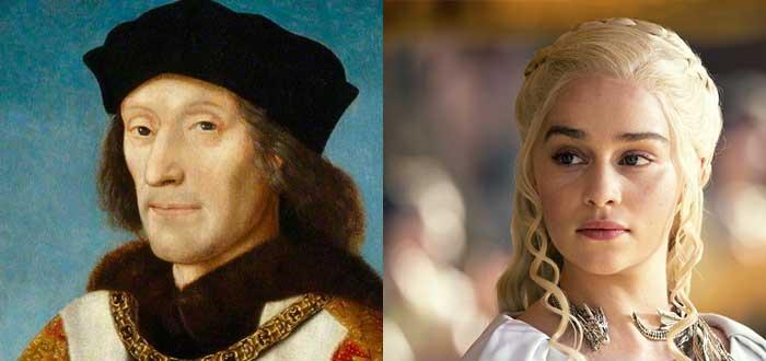 Personajes de la vida real que inspiraron algunos personajes de Juego de Tronos, ricardo II, Joffrey, Enrique VII, Daenerys Targaryen