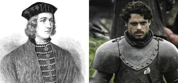 Personajes de la vida real que inspiraron algunos personajes de Juego de Tronos, eduardo de york, robb stark