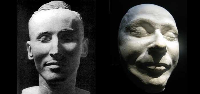 10 máscaras de la muerte de personajes célebres