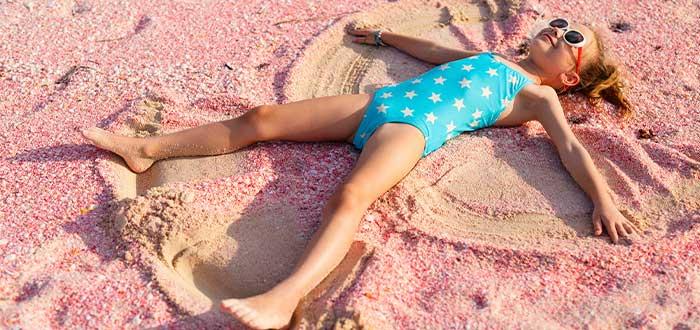playa arena rosa, Bahamas