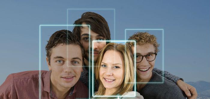 reconocimiento facial sobre facebook