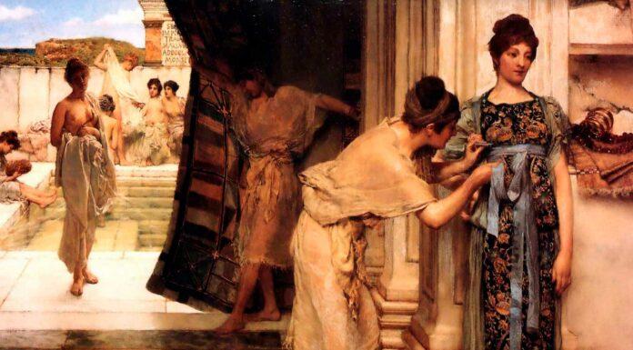 mujer de la antigua roma