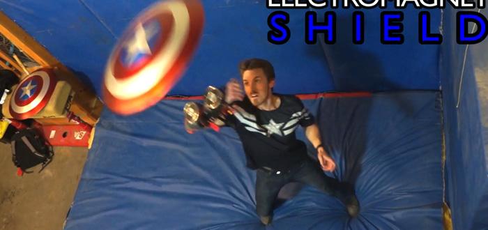 Este Youtuber construyó el escudo del Capitán América y funciona