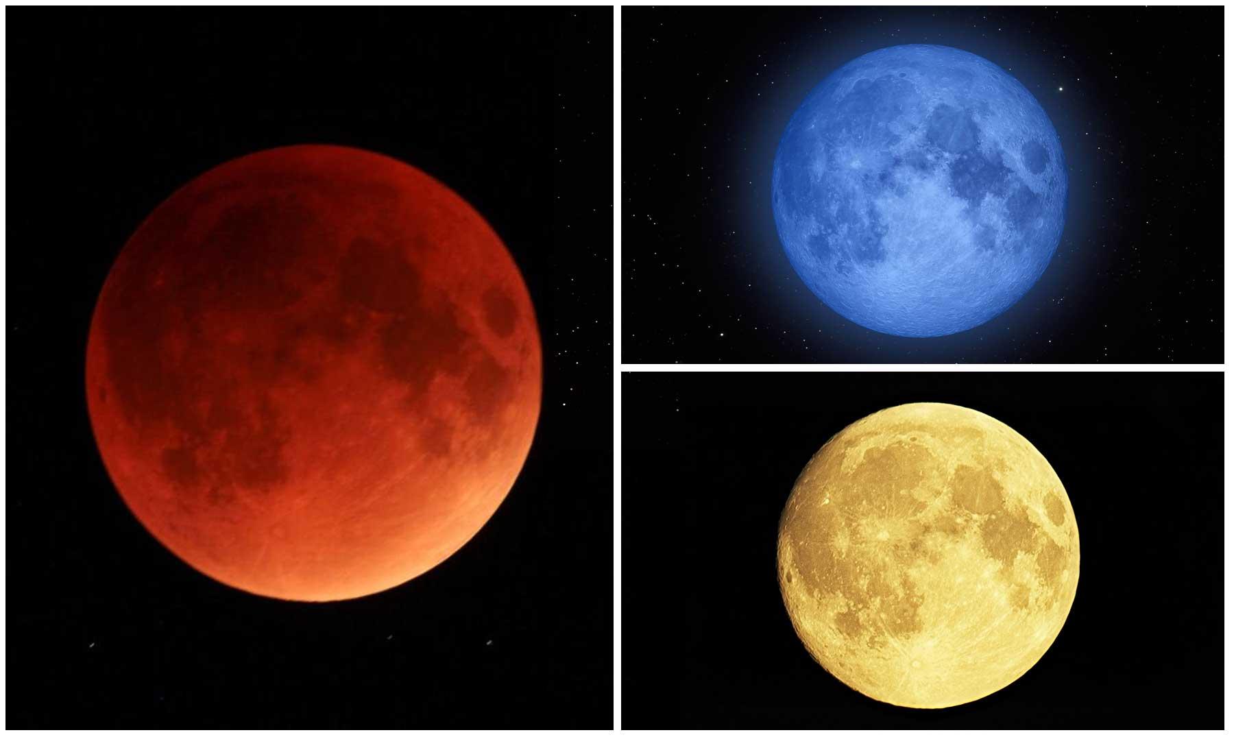Resultado de imagen de colores luna