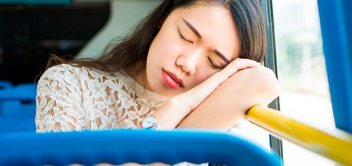 dormirse en el autobús