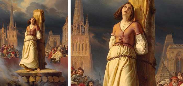 Juana de arco, pira, quemada