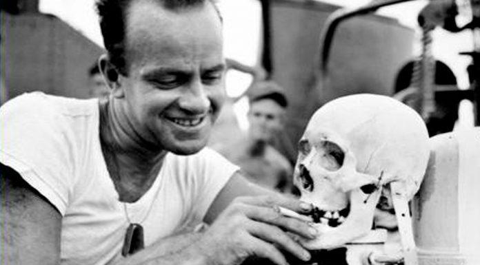 Trofeos de guerra: cráneos de japoneses mutilados por tropas americanas