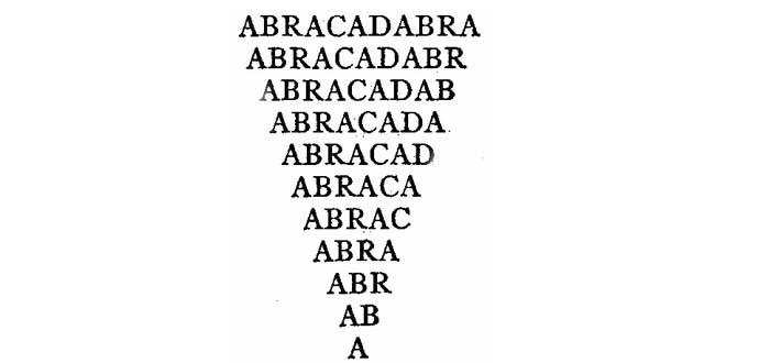 ABRACADABRA: una antiquísima palabra mágica