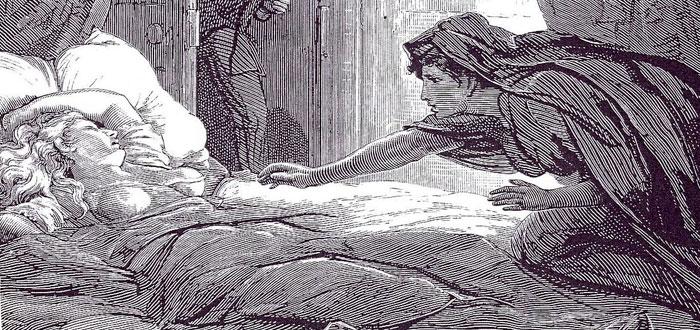 """Ilustración del libro """"Carmilla"""", vampiras homosexuales"""