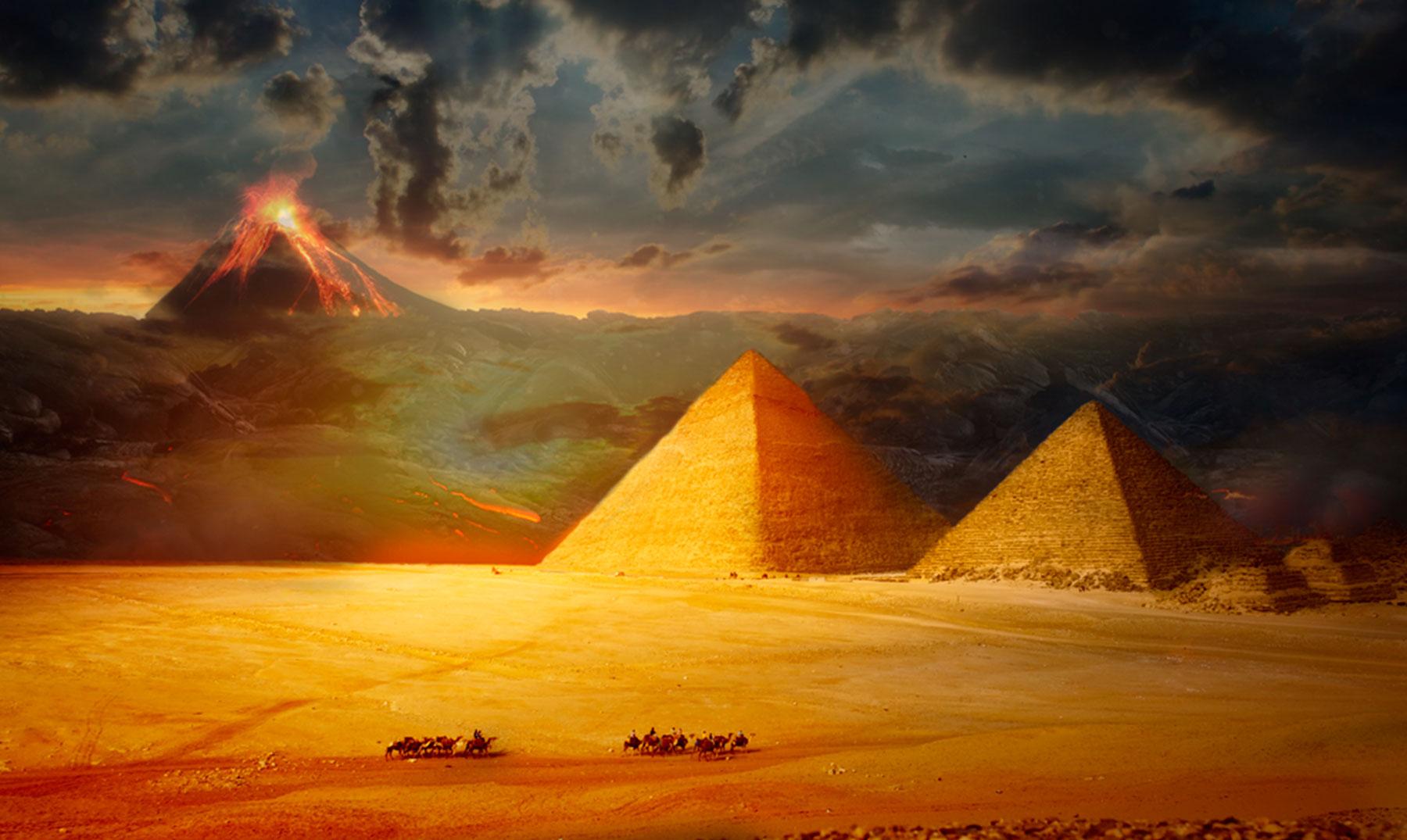el responsable del final del antiguo egipto fue un volcán