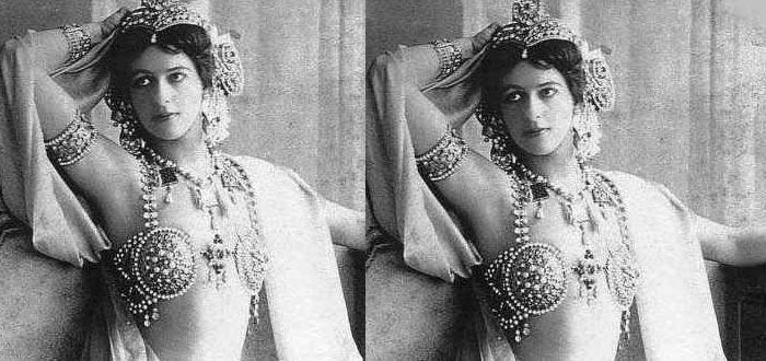 Sobre Mata Hari, Mata Hari fotografía posando vestida para sus bailes exóticos
