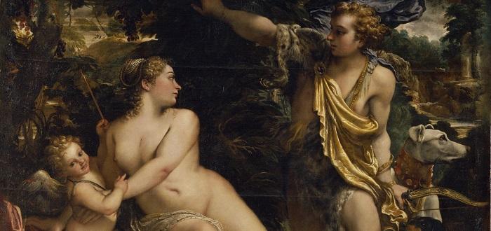 Afrodita y Eros, también llamados Venus y Cupido por los romanos.