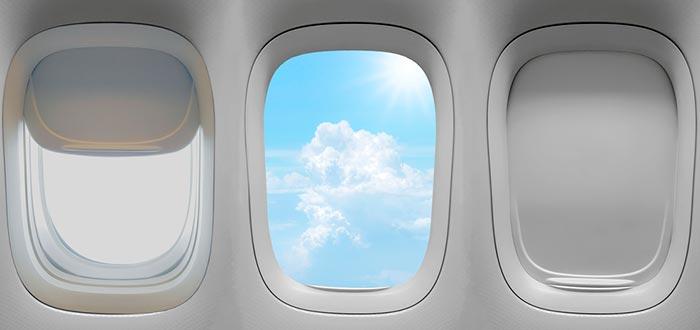 despegar el avión, ventanillas bajar la persiana