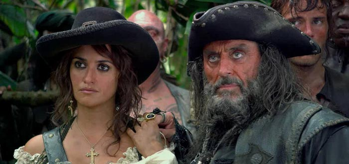 Barba Negra y su hija Angélica, Piratas del Caribe