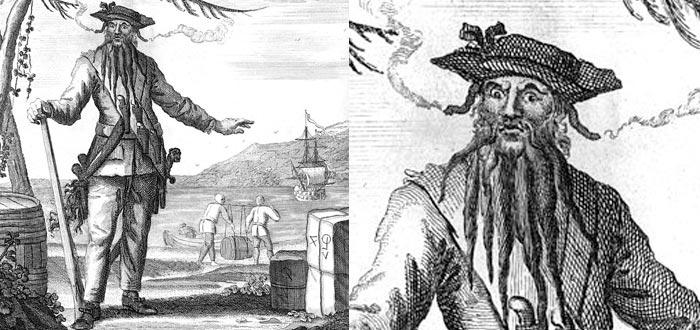 Pirata Barba Negra, retrato