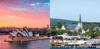 Ciudades con el mismo nombre que son muy diferentes