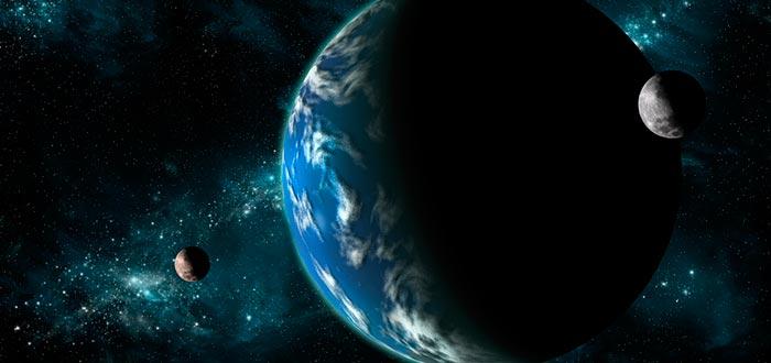 curiosidades del mundo, tierra con dos lunas