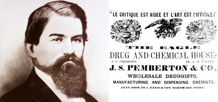 origen de la coca, John Pemberton