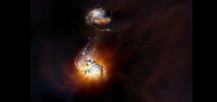 Choque de Titanes: el enfrentamiento entre dos galaxias