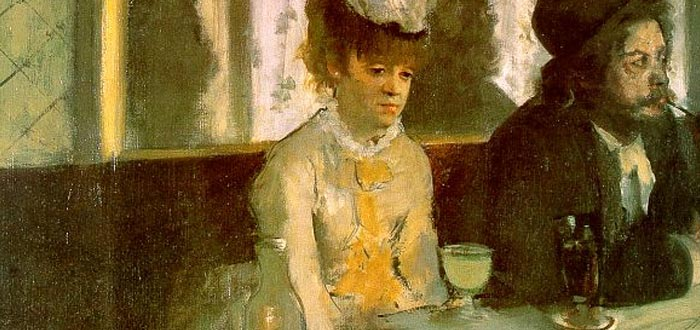 Detalle de La Absenta de Edgar Degas