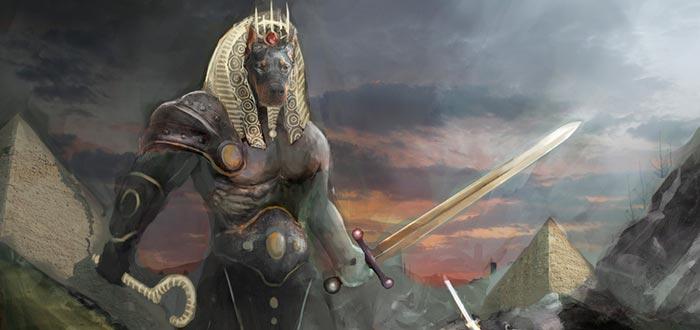 el Más Allá en el antiguo egipto, anubis