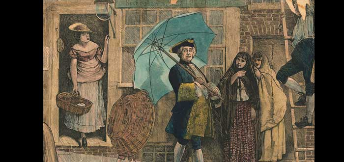 La triste historia del primer inglés que utilizó un paraguas