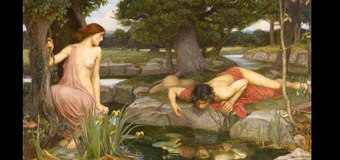 Ninfa Eco. La leyenda mitológica detrás del fenómeno, Eco y Narciso, Mito de Eco