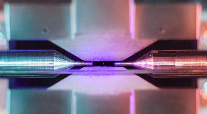 Fotografia de un atomo