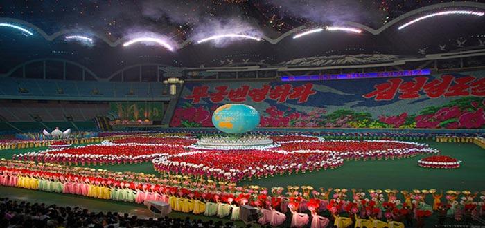 curiosidades de Corea del Norte, Estadio Rungrado Primero de Mayo
