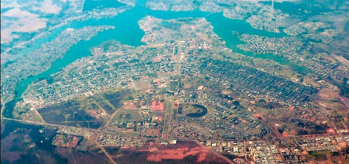 curiosidades de América, Brasil, Brasilia desde el aire
