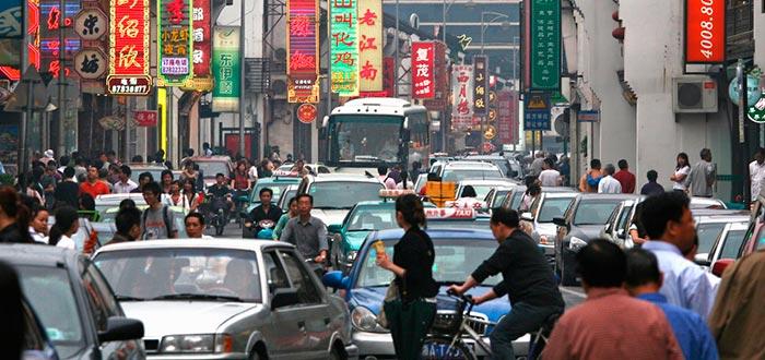 curiosidades de china, calles de shanghái