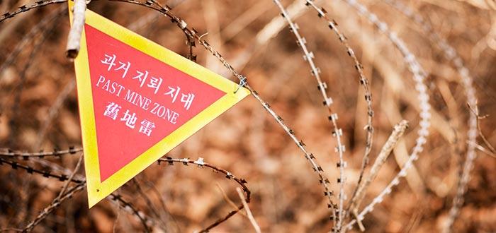 Curiosidades de Corea del Norte, frontera Corea del Sur