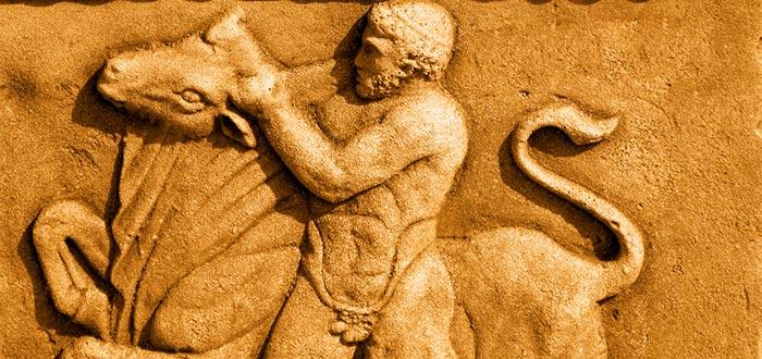 Curiosidades de Grecia, Hércules, coger el toro por los cuernos