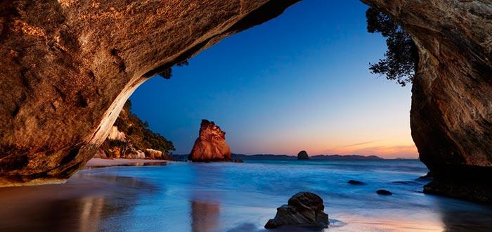curiosidades de Oceanía, paisaje de Nueva Zelanda