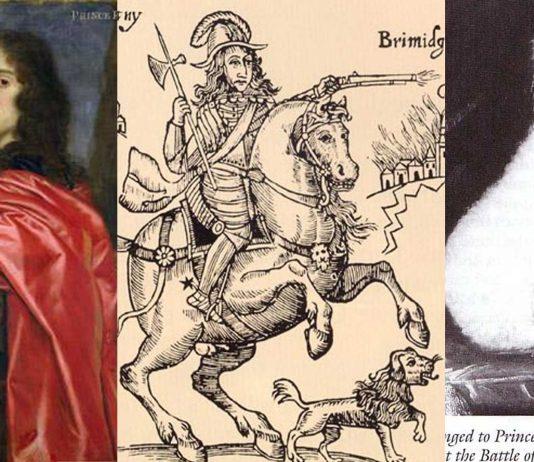 El perro Boye, el espíritu familiar del siniestro príncipe Rupert del Rhin