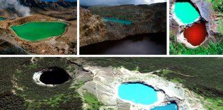 El monte Kelimutu, un lugar mágico donde los lagos cambian de color