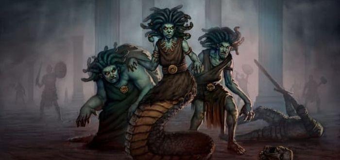 la historia de Medusa y sus hermanas