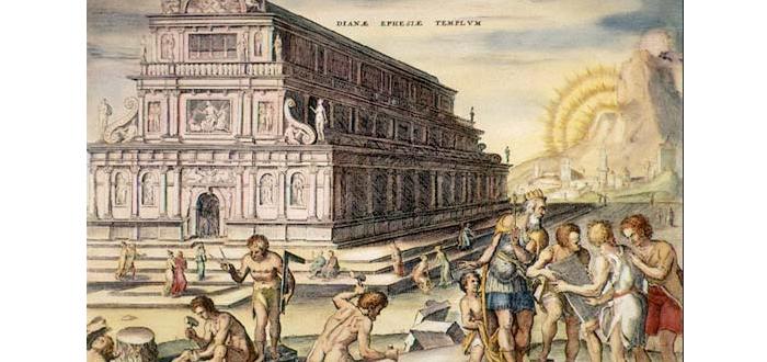 El Templo de la diosa griega Artemisa, en Éfeso