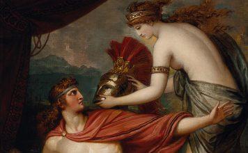Tetis le da la armadura de Hefesto a Aquiles