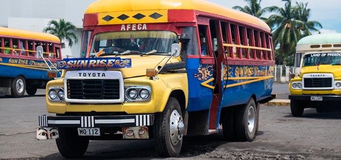 curiosidades de Samoa, autobús