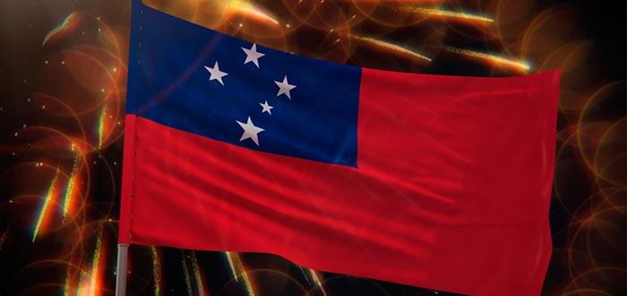 Curiosidades de Samoa, bandera de Samoa Independiente