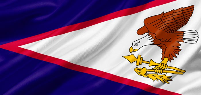 Curiosidades de Samoa, bandera de la Samoa Americana