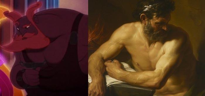 dioses del olimpo, dioses griegos, hefesto