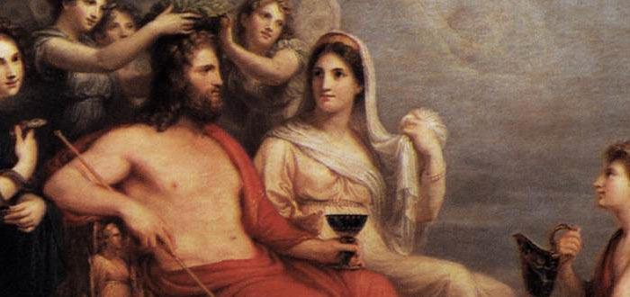 mitos de hera, esposa de zeus, trono del Olimpo